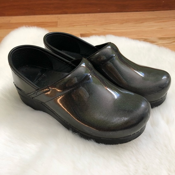 Dansko Metallic Sparkle Clogs Size 37